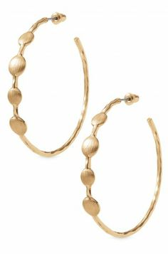 Wide Gold Plated Hoop Earrings | Gold Monterey Hoops | Stella & Dot | stelladot.com/melaniedye