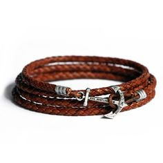 Fancy - Doctor Jones Leather Anchor Bracelet by Kiel James Patrick