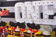 Mickey Mouse themed 1st birthday party via Kara's Party Ideas | KarasPartyIdeas.com (7)