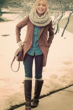 women's style 2013: Cute warm winter outfits fashion