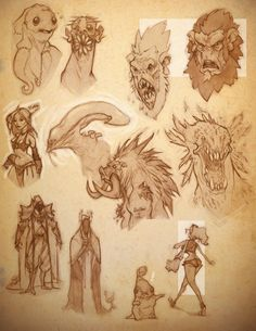 ArtStation is the leading showcase platform for games, film, media & entertainment artists. Alien Creatures, Fantasy Creatures, Mythical Creatures, Alien Drawings, Creature Drawings, Darksiders Horsemen, Character Inspiration, Character Art, Monster Sketch