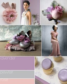 lavender Wedding Colors | The bride and bridesmaids: The bride could wear a fun pink fabric ...