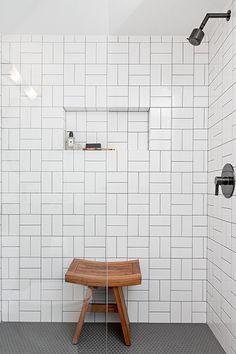 Bathroom Decor Ideas : Description Basement Bathroom After – How 1 Designer Transformed 3 Different Bathrooms – Photos Bathroom Kids, Bathroom Renos, Basement Bathroom, Small Bathroom, Bathrooms With Subway Tile, Remodled Bathrooms, Subway Tile Showers, Subway Tiles, Bathroom Furniture