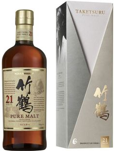 """Nikka Taketsuru 21 Year Old Japanese Pure Malt Whisky. Aged for twenty-one years, this rare whisky, which was made by the Father of Japanese #Whisky, was named the World's Best Blended Malt Whisky by Whisky Magazine in 2009, 2010 and 2011, and is considered to be """"one of the greatest whiskies of our time."""" 