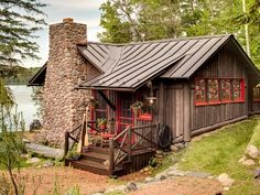 Cabin In The Woods On Pinterest Cabin Log Cabins And