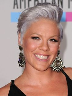 pink women celebrity short hairstyles 2013