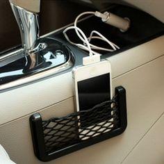 カーアクセサリー多機能車キャリングバッグステッカー車のスタイリング電話収納ネットストリングバッグ電話ホルダーポケット用カー