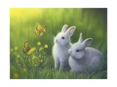 I need this bunny painting !Incredible Fantasy Art Works by American Artist Kirk Reinert Bunny Art, Cute Bunny, White Bunnies, White Rabbits, Bunny Bunny, Easter Bunny, Art 33, Lapin Art, Baby Animals