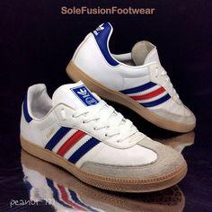 uk availability 88ace a23df adidas Originals Samba Trainers WhiteBlue sz 5.5 MensWomen Sneaker US 6 38
