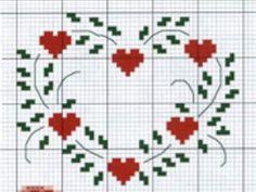 Cross Stitch Heart, Cross Stitch Alphabet, Cross Stitch Flowers, Embroidery Flowers Pattern, Embroidery Art, Cross Stitch Embroidery, Blackwork Cross Stitch, Cross Stitching, Beginning Embroidery
