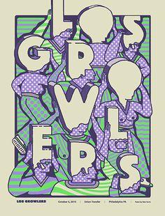 Los Growlers #gig #poster #art