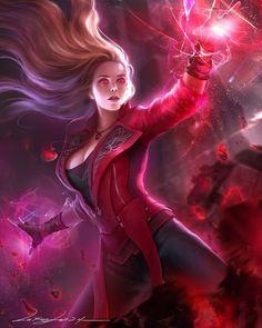 Marvel Comics Art, Marvel Fan, Marvel Heroes, Marvel Avengers, Captain Marvel, Scarlet Witch Marvel, Marvel Women, Marvel Girls, Wanda Marvel