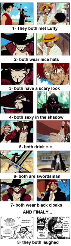 WTH is wrong with 4? Fangirl              mihawk_and_shanks__share___by_antarticaeyes-d314uoz