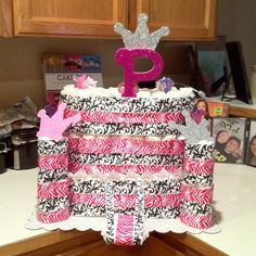 Princess diaper cake made by JennyFisher : )