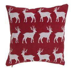 Wilko Red Reindeer Cushion 43x43cm
