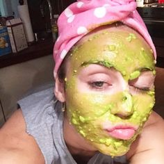 """One thing we have in common with Miley Cyrus: a """"mad real"""" avocado obsession. It's a great salve for face, skin and hair. Try these avocado masks for overall beauty. 