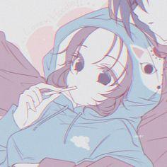 Anime Couples Drawings, Anime Couples Manga, Cute Anime Couples, Couple Drawings, Anime Girl Pink, Kawaii Anime Girl, Anime W, Otaku Anime, Gothic Anime