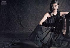 Model: Liu Wen (Marilyn)  Editorial: Dream Away  Magazine: Vogue China, September 2010  Photographer: Paolo Roversi  Stylist: Nicoletta Santoro  Hair: Odile Gilbert  Makeup: Marie Duhart
