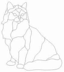 Image result for stained glass cat patterns