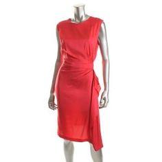 Diane von Furstenberg || Pink Silk Gathered Cocktail Dress || BHFO