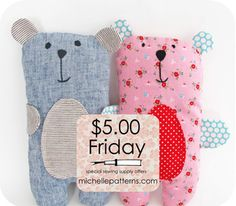 Image of $5 Friday - Bailey Bear Softie Sewing Pattern