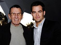 Leonard Nimoy's Famous Friends: See Spock With William Shatner, Chris Pine, Zachary Quinto and More!  Chris Pine, Leonard Nimoy, Famous Friends
