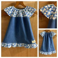 Infant Denim Peasant Dress, size 6 months
