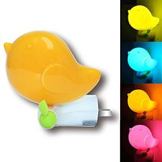 Christmas Baby Night LightYoungnis LED Intelligent Bird Night Light with Light Sensor Control for ChildrenKids and Baby Orange *** Want to know more, click on the image.