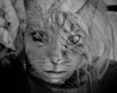 double exposure as cat https://www.flickr.com/photos/theponymonster/6065622431/