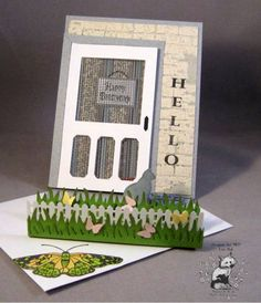 F4A105 Kitty in the Butterfly Garden_lb by Clownmom - Cards and Paper Crafts at Splitcoaststampers