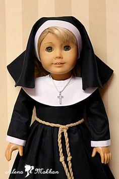 18 Inch American Doll Lil Sister Catholic Nun Habit Costume #AlenaMokhan