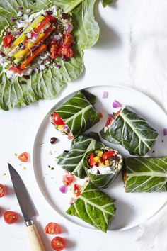 Jul 16 Greek Collard Green Wraps with Vegan Tzatziki