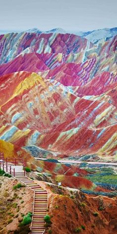These stunning Rainbow Mountains are a very real place #travel #roadtrips #roadtrippers