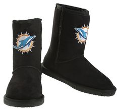Miami Dolphins NFL The Ultimate Fan Women's Boot, Black * Read more reviews of the product by visiting the link on the image. (Amazon affiliate link)