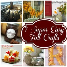 7 Super Easy Fall Crafts to spruce up any room!