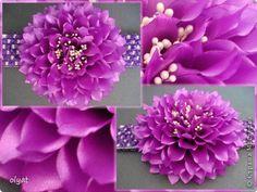 Украшение Цумами Канзаши Последние летние цветы Ленты фото 5