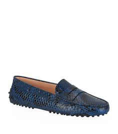 Tod's, Tods, shoes, flats, loafers, driving shoes, leather loafer, Gommino, Gommino Driving Shoe, Gommino Snakeskin Driving Shoe