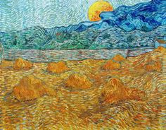 Vincent van Gogh - Paesaggio con covoni di grano e luna che sorge - 1889 - Kröller-Müller Museum © Kröller-Müller Museum