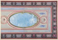 Design for Ceiling: Gallery of Château de Magnitot (recto); Decorative Design (verso) Artist: Jules-Edmond-Charles Lachaise (French, died 1897) Artist: Eugène-Pierre Gourdet (French, born Paris, 1820) Date: second half 19th century Medium: Watercolor, gouache, and gilt Dimensions: 19 7/16 x 13 3/8 in. (49.3 x 34 cm) Classification: Drawings Credit Line: Dodge Fund, 1967