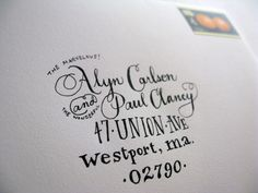 Hand-Lettered Address on Envelope | Arley-Rose Torsone | Flickr