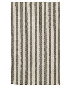 Capel Area Rug, Hampton Flatweave 0404-350 Grey Stripe 5' x 8'