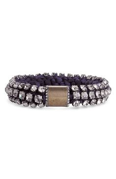 Lanvin Crystal and Chiffon Bracelet