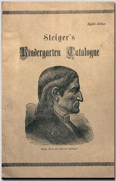 E. Steiger Kindergarten supply catalog, New York, circa 1880. Norman Brosterman Kindergarten Collection.