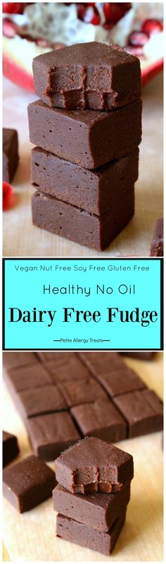 Healthy Dairy Free Fudge Recipe (vegan gluten free)- Healthy chocolate fudge (with vegetables) for Valentine's or any day! Dye free gluten free and food allergy friendly
