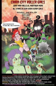 Charm City Roller Derby by ~mutantmuffinz on deviantART