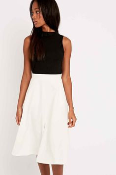 Light Before Dark Midi Skirt in Ivory - Urban Outfitters