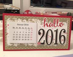 Hoppla...da ist das neue Jahr schon ein paar Tage alt...aber ich bin mit meiner Kalenderproduktion gestartet. Die Idee gabs bei der lieben Scrapgoere  #stampin #stampinup #stampinupdemo #stampinupdeutschland #stampinupdemonstrator #SaleABration2016 #paper #paperwork #papercraft #madebytinilue #kalender2016 #calendar #kalender