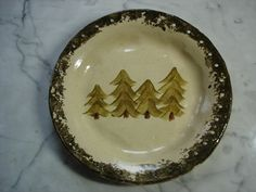 Pine tree pottery pine needle basket bases on Etsy, $12.00