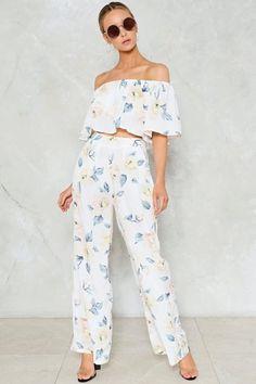 It Would Be a Crime Floral Pants