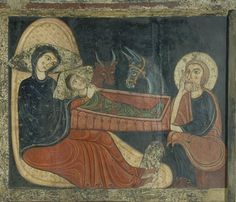 The Nativity, from the Altarpiece of St. Medieval Life, Medieval Art, Religious Paintings, Religious Art, Early Christian, Christian Art, Medieval Manuscript, Illuminated Manuscript, Romanesque Art